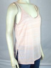 Say What ? Pink Tan V-Neck Sheer Sleeveless Tank Top Juniors Size Medium 7 9