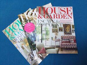 House and Garden Magazine Bundle Of Three Magazines. July/Aug21 & Sep 2020. VGC.