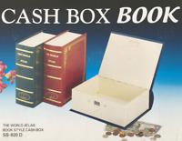 """Metal Diversion Book Shape Cash Box Book Safe 3""""x 6-1/4""""x 8-1/4 H Colors vary."""