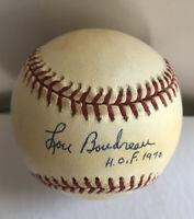 """Lou Boudreau Signed Inscribed """"HOF 1970"""" Vintage Baseball JSA"""