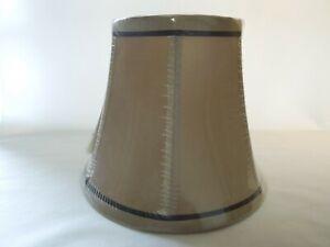 "Hampton Bay Round Bell Lamp Shade Gold w/ Brown Trim 10"" Bottom 6"" Top 869 316"