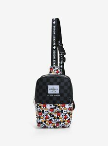 Loungefly Disney Bag - Cool Mickey Mouse Black Checkered Sling Bag / Body Bag