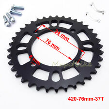 Rear Sprocket 420 76mm 37T For 50cc-160cc Pit Dirt Bike SDG GPX Piranha YCF SSR