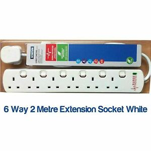 Status SWITCHED  6 WAY 2 METRE EXTENSION SOCKET SURGE PROTECTED!