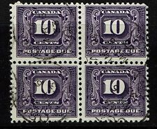 Canada SG# D13 - Block of 4 - Used - Lot 073017