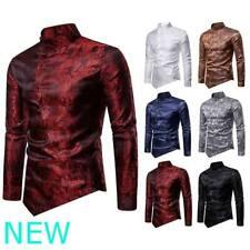 Мужские сорочки рубашка приталенная блузка топ стильный мужской роскошный длинный рукав цветочный