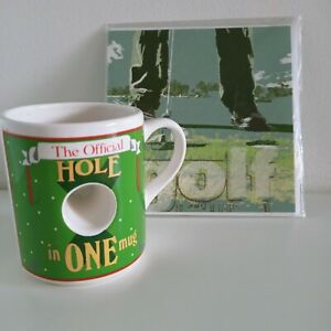 Vintage Mug by Papel 'The Official Hole In One Mug' Novelty Gift Coffee GOLF NEW