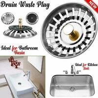 Premium Kitchen Sink Replacement Waste Drain Plug Filter Basin Strainer Drainer