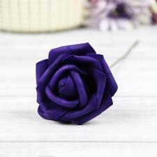 10X 50X Foam Rose Artificial Fake Flower Wedding Bride Bouquet Party Home Decor