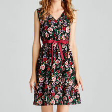 Women Summer Beach Sundress Floral Tank Vintage Sleeveless Skater Mini Dress