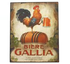 Retro Metal Signs Rooster Holds a Beer Plaque Tin Plate Pub Bar Wall Hanging