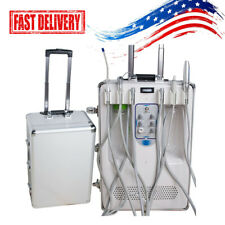 New Listingfda Dental Delivery Unit Case Air Compressor Scaler Curing Light High Suction 6l
