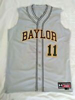 New Under Armour Baylor Bears Brand Sewn Sleeveless Baseball Jersey Men's Large