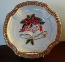 "Fitz and Floyd Christmas Plate ""Holiday Bellls"" 9"""