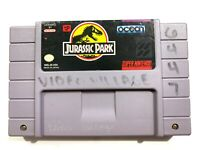 ***Jurassic Park (Super Nintendo SNES) Game TESTED & WORKING! - Authentic!***