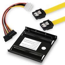 """Einbau Rahmen Einbaurahmen 2,5"""" SSD + 50 cm S-ATA Kabel 6Gb + Strom Adapter"""