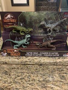 Jurassic World Camp Cretaceous Dino Escape Raptor Squad Set NIB