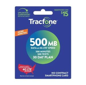 TracFone 🤑DISCOUNTED🤑 $15/Month Refill -- 500 Minutes/ 500 Text / 500 MB Data!