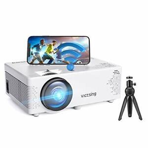 Verbindung mit HDMI VGA SD USB AV Ger/ät Beamer 4500 Lumen Multimedia Full HD Video-Beamer unterst/ützt 1080P Full HD LED 50000 Stunden mit max 200 Display Heimkino Projektor