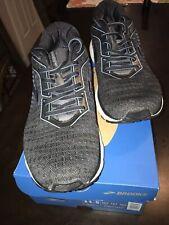 Brooks Men's Ghost 12 Running Shoe, Black/Grey/Stellar, 11.5 D(M) Us