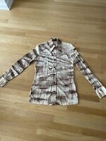 ROLAND 70's Vintage Disco Shirt STRETCH NYLON Mid Century Mod MENS Medium