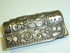 "IMCO ""TRIPLEX"" POCKET PETROL WICK LIGHTER WITH 800 SILVER CASE - 1956 - AUSTRIA"