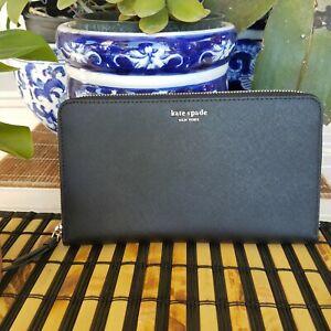 Kate Spade Cameron Large Travel Wallet-Black WLRU5442  NEW RETAIL: $249 SOLD OUT