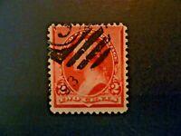 USA 1890  $.02 Washington #220C Used Caps on Both 2s - See Description & Images