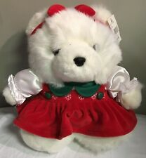 DAYTON HUDSON Miss Santa Bear 1996 Stuffed Animal Plush Christmas Teddy Bear