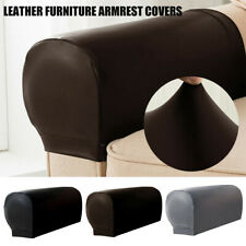 Pu-Leather Sofa Armrest Covers For Couch Chair Arm Protector Stretch/Waterproof