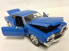 "1970 Chevrolet Chevelle SS, Collectible, 8.5"" Diecast 1:24 Scale  Jada Toy, Blue"