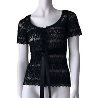 VERY VERY SIZE 10 BLACK LACED STYLE TOP