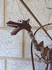 Bali Bamboo Coconut wind chime. Hand crafted. Dragon