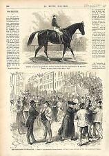 Grand Prix de Paris Longchamp Cheval Horse Trent / ELECTIONS BELGIQUE GAND 1874