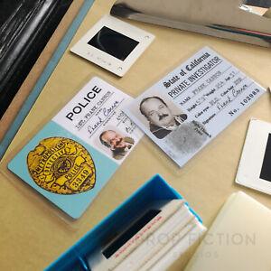 Cannon - Prop Private Investigator Licence & Vintage Detective Cosplay ID Cards