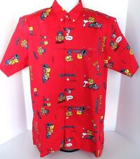 VTG MEN'S Big John Snoopy Peanuts Charlie Brown Hawaiian Shirt Size XL
