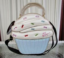 Betsey Johnson Cupcake Large Insulated Lunch Tote Bag Crossbody Diaper NWT