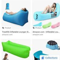 Black Inflatable Beach or outside Sofa / Lounger - BNWT