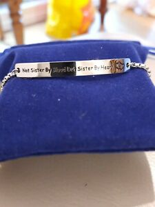BRAND NEW NOT SISTERS BY BLOOD BUT SISTERS BY HEART  BRACELET