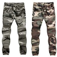 Camouflage ARMY Men's Trousers Pants Pant Camo Cotton Sports Military Casual Gym