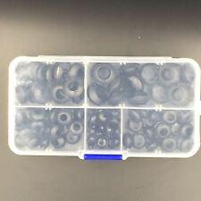 100 pieces Rubber Grommet Assortment Set Harness Grommet Wire Gasket Kit