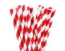 200 Biodegradable Paper Drinking Straws Red Birthday Wedding Cafe Take Away Kids