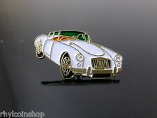 BRAND NEW VINTAGE WHITE MGA COUPE PIN BADGE