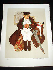 """Norman Rockwell Original Lithograph Hand Signed """"Muggleton's Stagecoach"""" 3/200"""