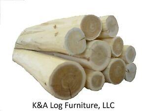 Medium Log Furniture Logs, Hand Peeled Cedar, kiln dried, Use your tenon cutter!