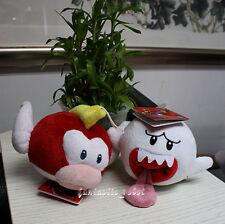 Super Mario Bros Soft 2-x Plush Stuffed animal Dolls Pukupuku Boo Ghost X'mas US