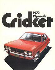 1972 Plymouth Cricket Sales Brochure