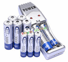 6 AA + 6 AAA 1000mAh 3000mAh 1.2V NI-MH BTY Rechargeable Battery + USB Charger
