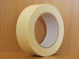 BBK-K80 / 24 x Abdeckband 38 mm x 50 m Lackiererband Kreppband Abklebeband 80°C