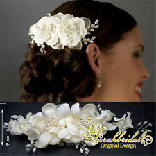 Vintage Bridal Hair Comb Headpiece Flower Rhinestone Wedding Party Tiara Jewelry